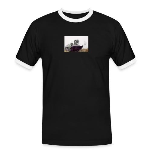 bwp2 - Koszulka męska z kontrastowymi wstawkami