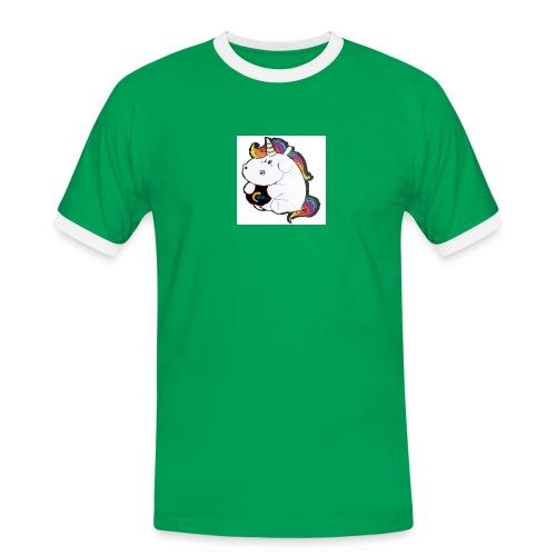 MIK Einhorn - Männer Kontrast-T-Shirt
