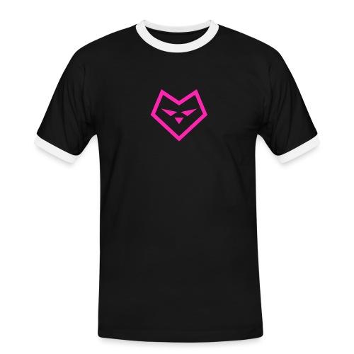 roze logo udc - Mannen contrastshirt