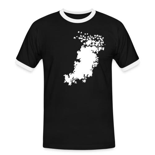 blumenteppich - Männer Kontrast-T-Shirt