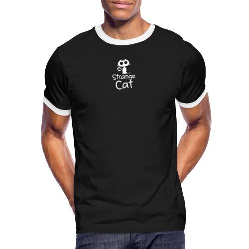 Strange Cat Blanc - T-shirt contrasté Homme