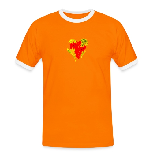peeled heart (I saw) - Men's Ringer Shirt