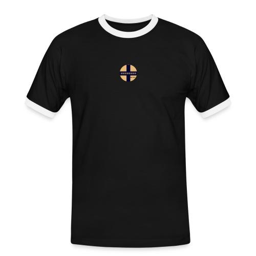 ! - Kontrast-T-shirt herr