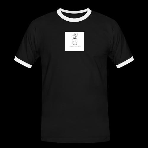 l'amour est mort - T-shirt contrasté Homme