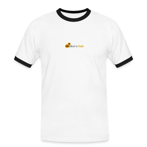 Biker's Hub Small Logo - Men's Ringer Shirt
