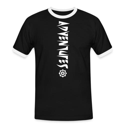 Jebus Adventures Vertical Stripe - Men's Ringer Shirt