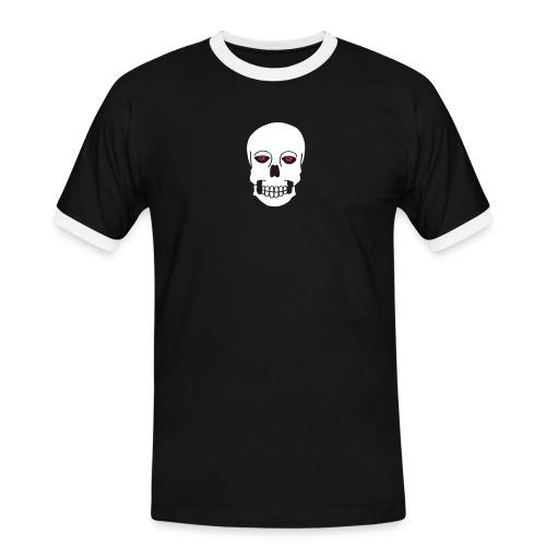Schädel Skulls Augen Eyes Death Tod Horror Tattoo - Männer Kontrast-T-Shirt