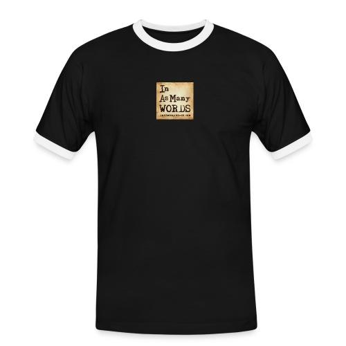 I AM Words LOGO_Brown - Men's Ringer Shirt