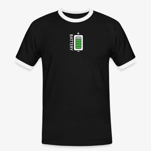 Battery - Maglietta Contrast da uomo
