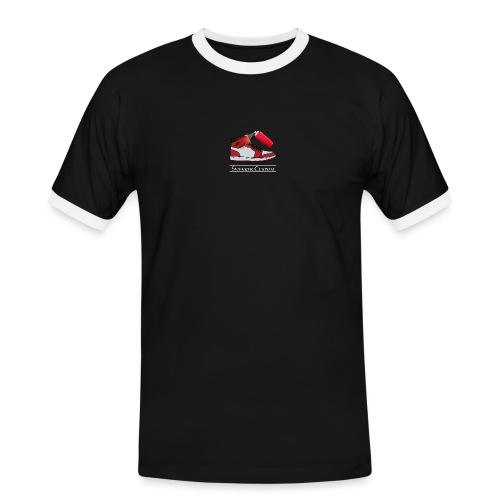 Sneaker Custom Logo /white text - Männer Kontrast-T-Shirt