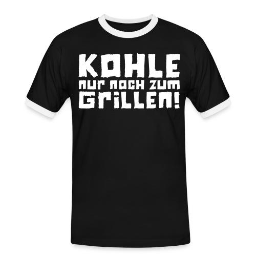 Kohle nur noch zum Grillen - Logo - Männer Kontrast-T-Shirt