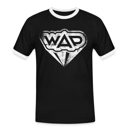 wapgrunge 01 weiss - Männer Kontrast-T-Shirt