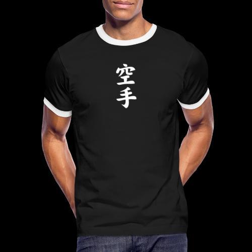 karate - Koszulka męska z kontrastowymi wstawkami