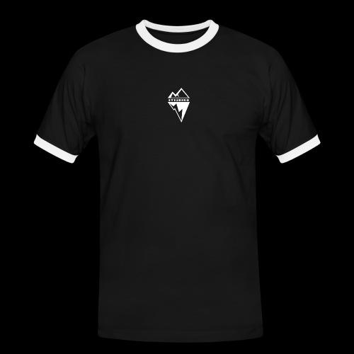 Eyesberg Tshirt Noir - T-shirt contrasté Homme