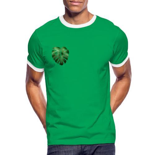 Foglia dalla Natura - Maglietta Contrast da uomo