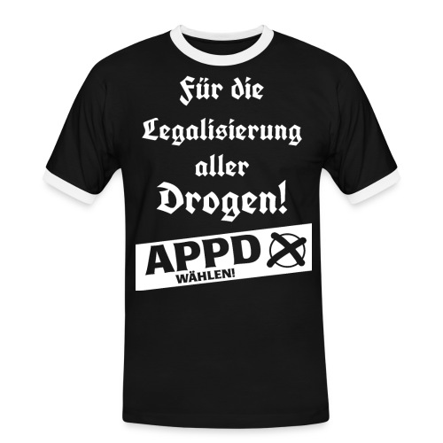 Legalisierung aller Drogen! APPD wählen! - Männer Kontrast-T-Shirt