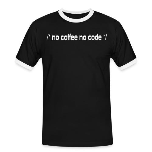 No Coffee No Code - Männer Kontrast-T-Shirt