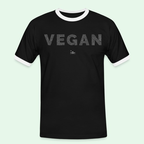 Vegan - White - Kontrast-T-shirt herr