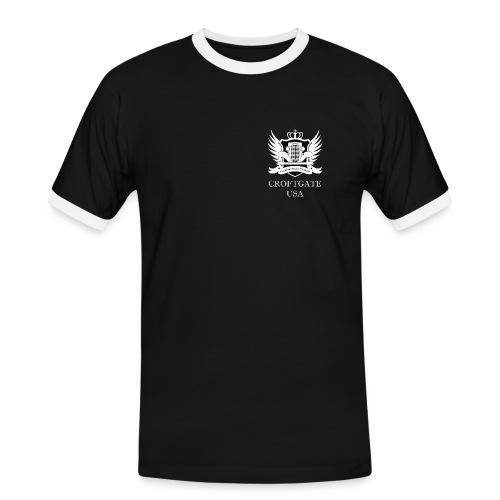 CroftgateUSA Logo White - Men's Ringer Shirt