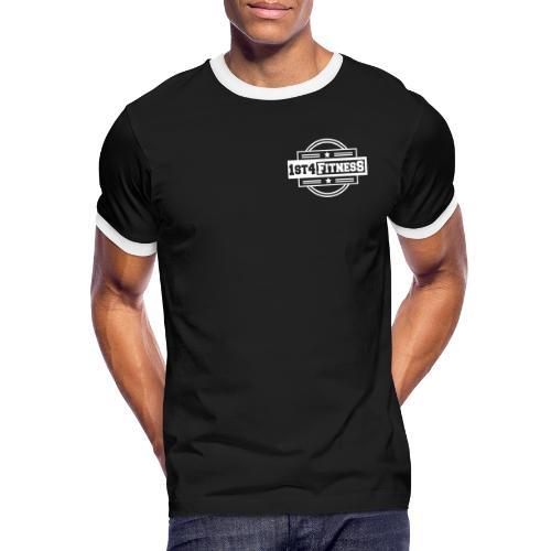 1st4Fitness White Back & Front - Men's Ringer Shirt