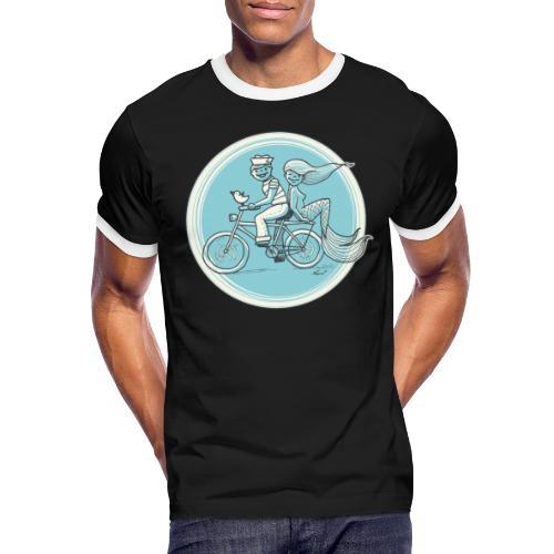 To the Beach - Backround - Männer Kontrast-T-Shirt