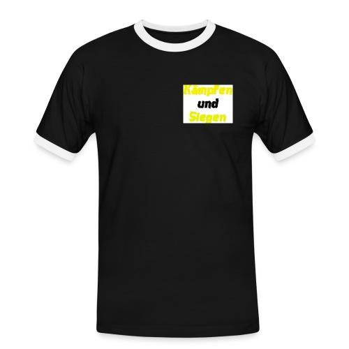 Kämpfen und Siegen - Männer Kontrast-T-Shirt