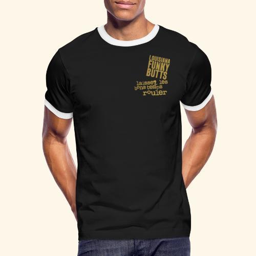 Laissez Les B-T-Rouler_2 - Männer Kontrast-T-Shirt
