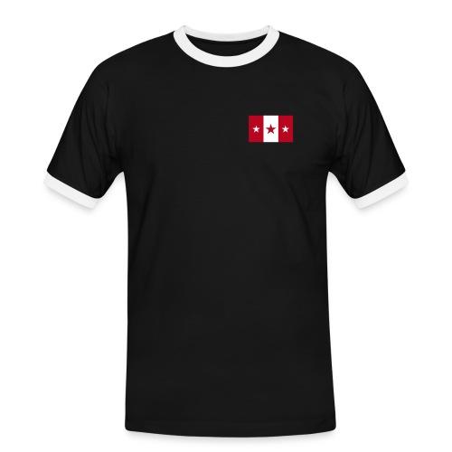 Star Flagge - Männer Kontrast-T-Shirt