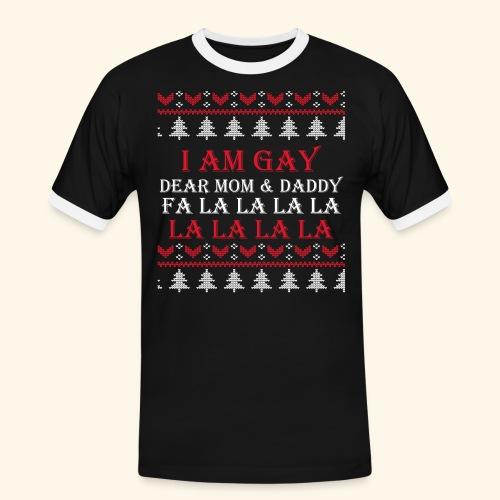 Gay Christmas sweater - Koszulka męska z kontrastowymi wstawkami