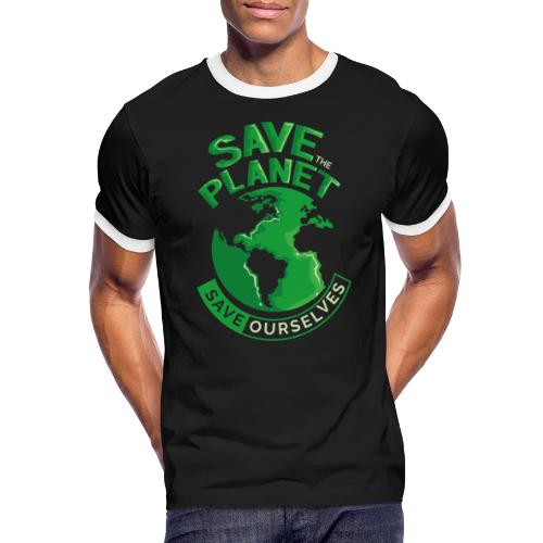 Save the Planet Save Ourselves - Men's Ringer Shirt