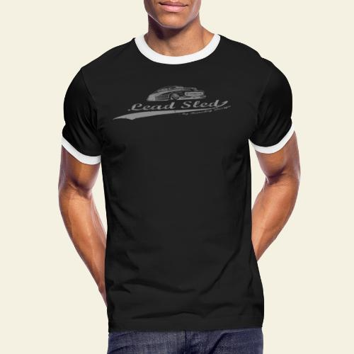 lead sled grey - Herre kontrast-T-shirt