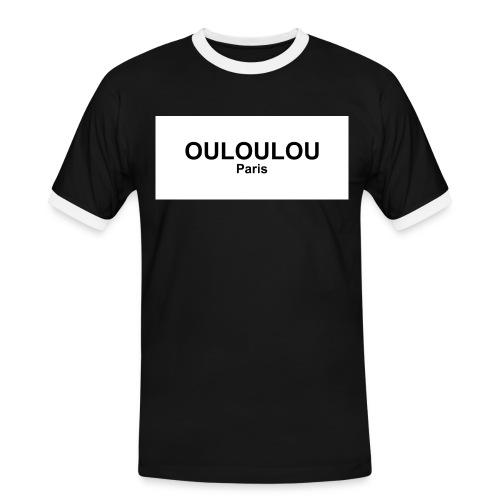 ouloulou ecriture noire 01 jpg - T-shirt contrasté Homme