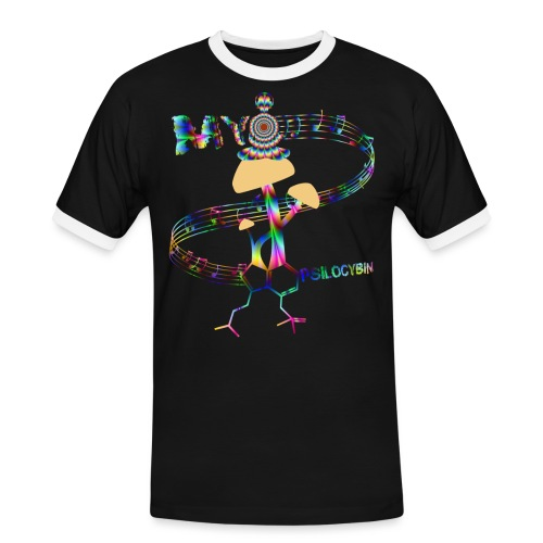 My Psilocybin (Psychadelic) - Kontrast-T-shirt herr