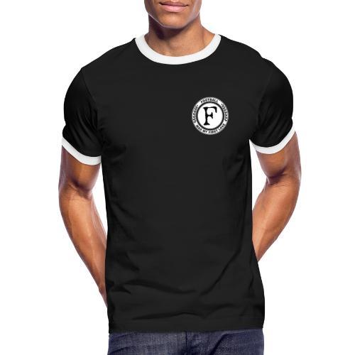 Football was my first love - Männer Kontrast-T-Shirt