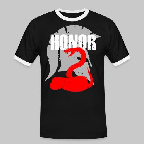 2reborn spartan honor ehre sparta schlange snake e - Männer Kontrast-T-Shirt