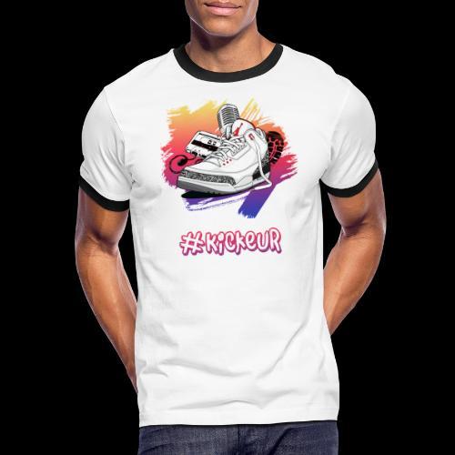 #Kickeur Blanc - T-shirt contrasté Homme