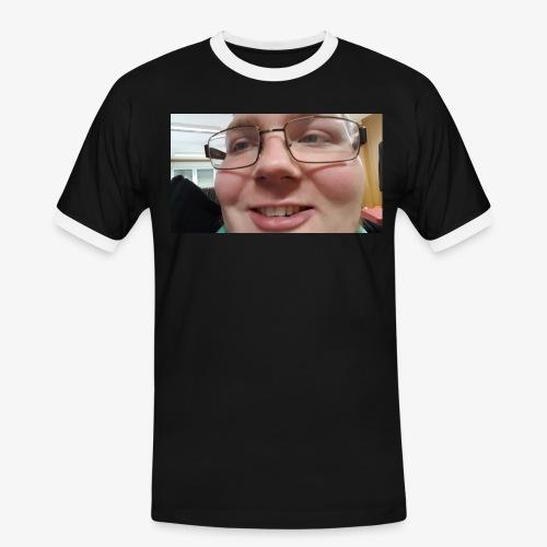 Seemännischer Blick in die Ferne - Männer Kontrast-T-Shirt