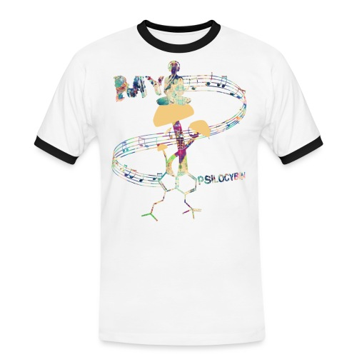My Psilocybin (Light) - Kontrast-T-shirt herr