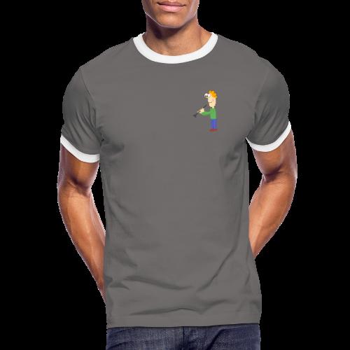 oboe man - Männer Kontrast-T-Shirt