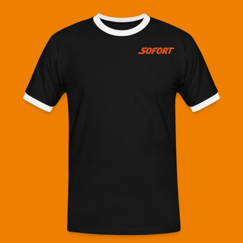 SOFORT Plain - Männer Kontrast-T-Shirt