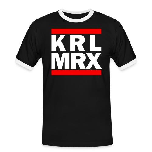 KrlMrxWhite - Männer Kontrast-T-Shirt