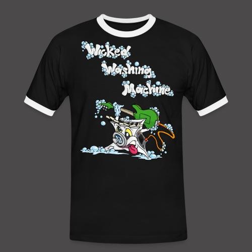 Wicked Washing Machine Cartoon and Logo - Mannen contrastshirt