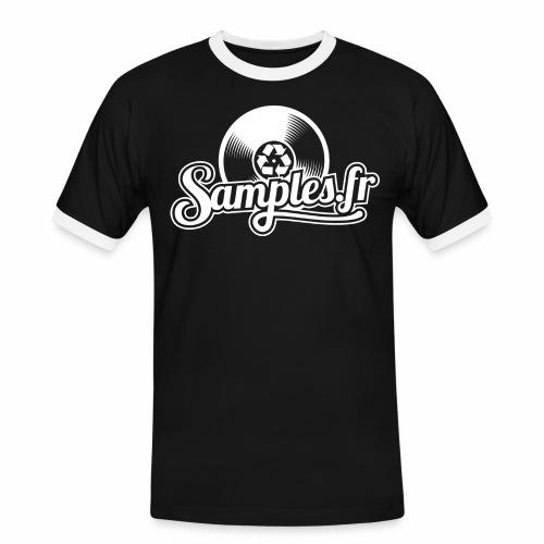 Samples.fr noir - T-shirt contrasté Homme