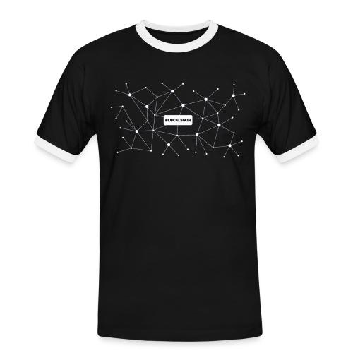 Blockchain - Männer Kontrast-T-Shirt