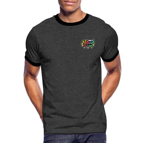 2Flash Fabian - Männer Kontrast-T-Shirt