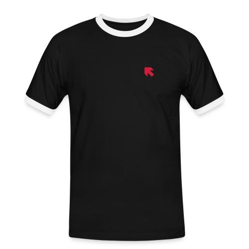 roter Pfeil - Männer Kontrast-T-Shirt