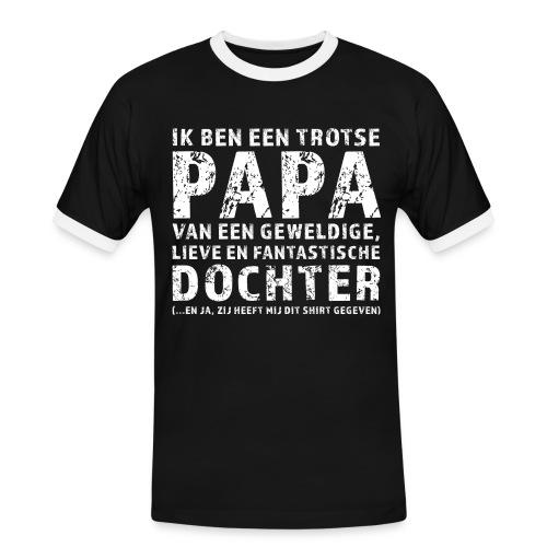 Trotse Papa - Mannen contrastshirt