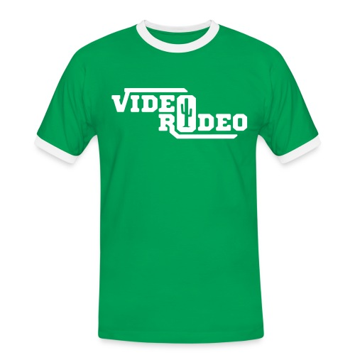 VIDEO RODEO Logo - Männer Kontrast-T-Shirt