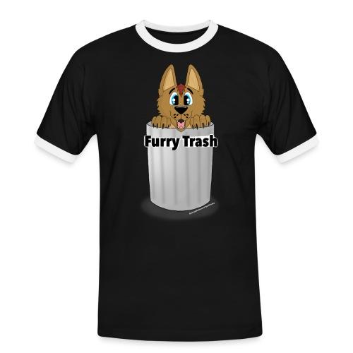 Furry Trash - Herre kontrast-T-shirt