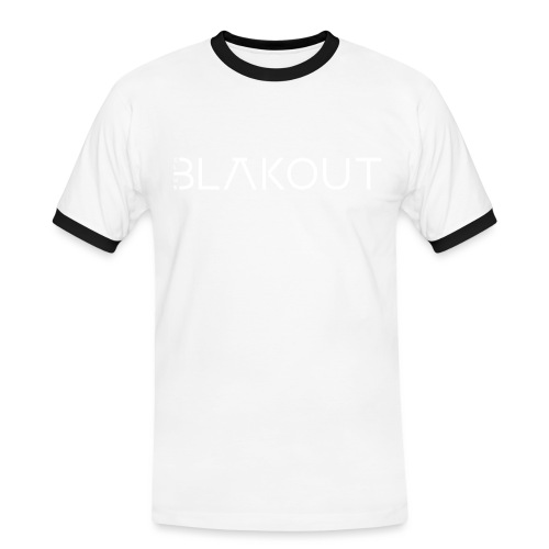 Bläkout -logo valkoinen - Miesten kontrastipaita